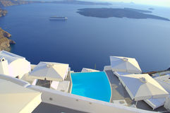Dizzying view from Santorini Royalty Free Stock Photography