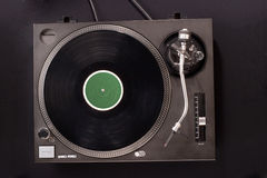 Dj's turntable. Direct drive turntable system. Top view Stock Image