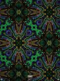 Djärv blått- och gräsplanfractal Royaltyfri Bild