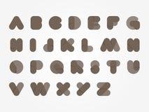 Djärv illustration för alfabetcolorfull Arkivfoton