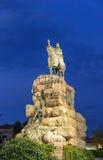 Djärv staty av konungen Juame i Palma Arkivfoto