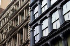Djärva fasader i Brooklyn, New York fotografering för bildbyråer