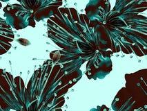 Djärvt blom- tryck royaltyfri illustrationer
