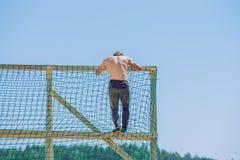 Djärvt lopp, sporthändelse Utomhus- utbildning, folk kör Fotografering för Bildbyråer