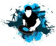 DJ冲浪样式 皇族释放例证