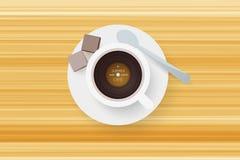 DJ咖啡馆 抽象咖啡与唱片的 免版税库存图片