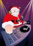 DJ圣诞老人圣诞晚会 库存例证