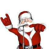 dj圣诞老人 图库摄影