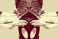 dj女性质朴的反映的模式 图库摄影