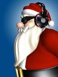 dj耳机圣诞老人 免版税图库摄影