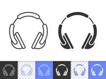 Dj耳机简单的黑线传染媒介象 皇族释放例证
