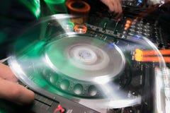 DJ设备使用 免版税库存图片
