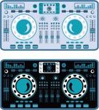 DJ转盘传染媒介 图库摄影