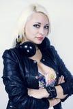 DJ με τα ακουστικά Στοκ Εικόνες