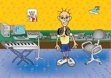 DJ στο στούντιο απεικόνιση αποθεμάτων