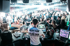 DJ в Лондонском клубе Стоковая Фотография