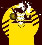 dj играет главные роли желтый цвет иллюстрация штока