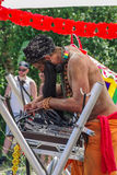 DJ и его консоль Стоковое Фото