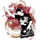 DJ на turntable Стоковое фото RF