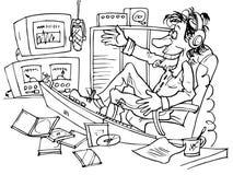dj передает по радио Иллюстрация штока