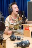 dj передает по радио Стоковые Изображения