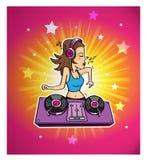 Dj светит клубу музыки диско Стоковое Изображение RF