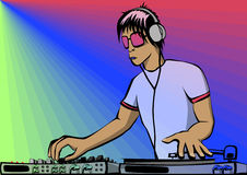 DJ. Vector image, include EPS. Young D.J Royalty Free Stock Photo