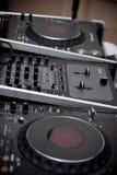 DJ. Close up of DJ console Royalty Free Stock Image