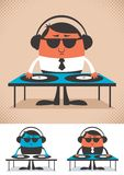 DJ. Illustration of cartoon DJ. No transparency and gradients used stock illustration
