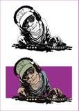 dj royaltyfri illustrationer