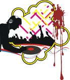 Dj. Vector illustration on a theme of modern  music Stock Images