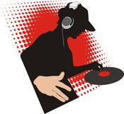 Dj. Vector illustration on a theme of modern  music Royalty Free Stock Photography