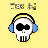 The Dj. An illustration of a skull D J Royalty Free Stock Images
