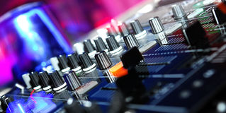 Dj. The image of a vinyl DJ's deck color on color background royalty free stock image