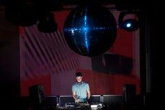 DJ in actie Stock Foto's