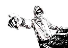 DJ in actie royalty-vrije illustratie