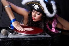 DJ in actie royalty-vrije stock afbeelding