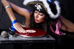 DJ in action Royalty Free Stock Image