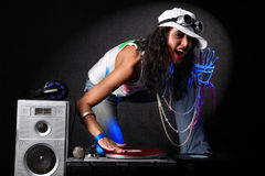 DJ in action Stock Photography