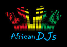 DJ africano Foto de archivo libre de regalías