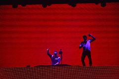 Dj Afrojack miesza na scenie Obrazy Royalty Free