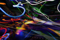 Dj And Lights Abstract Stock Images