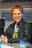 DJ Armin Van Buren smiles at press conferences Stock Images