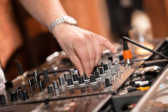 Dj At Work Royalty Free Stock Photography
