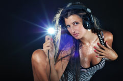DJ atractivo Imagen de archivo