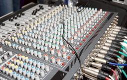 DJ audio mixer Royalty Free Stock Images