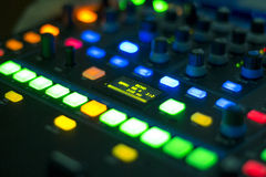 Dj audio mixer Stock Photos
