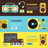 Dj Audio Music Equipment Banner . Vector Stock Image