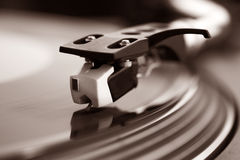 DJ-Aufzeichnungs-Drehscheibe Lizenzfreie Stockbilder
