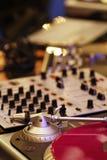 DJ-Ausrüstung Stockfoto